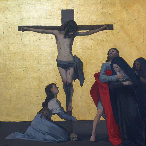 Magdalena al peu de la Creu  Garcia Ibañez, Andrés