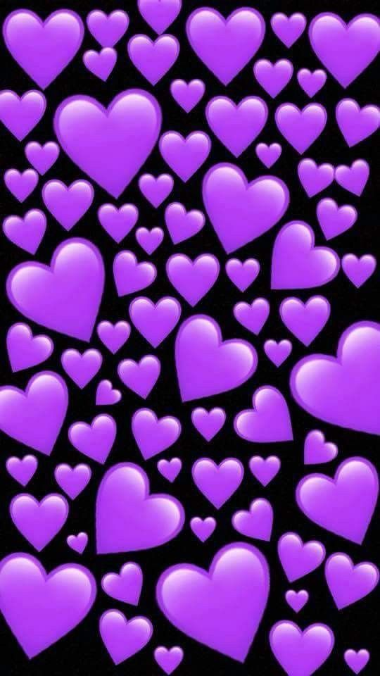 There Should Be More Purple Hearts Imo Emoji Wallpaper Heart Wallpaper Cute Emoji Wallpaper