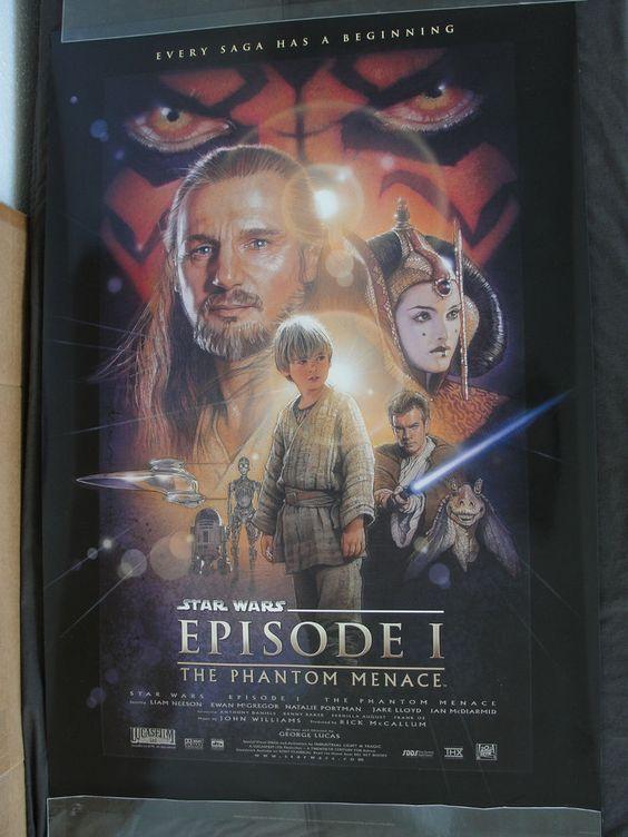 Star Wars Episode I Phantom Menace Movie Poster Version B New Never Hung