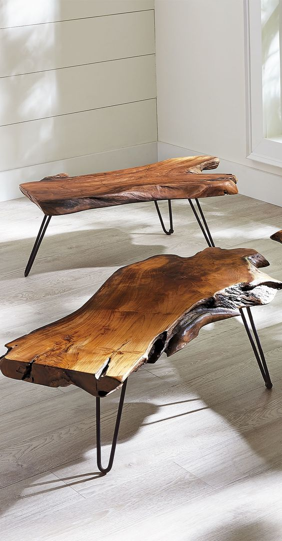 Feast your eyes on our extraordinary Teak Coffee Table. Each one is utterly unique, since it is made from a single piece of natural wood.
