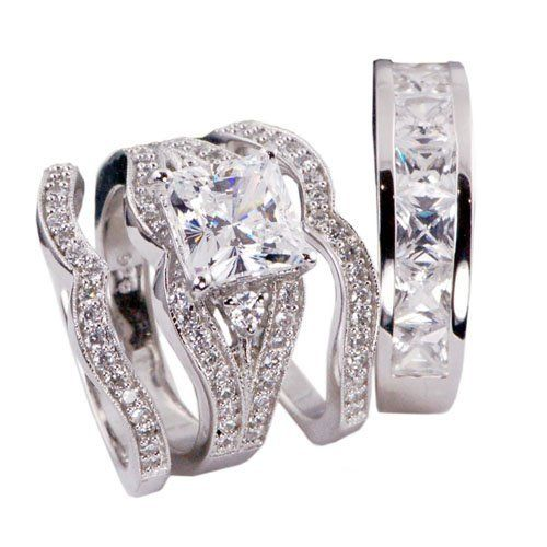 4pcs His and Hers Bridal Engagament Wedding Ring Set .925 Sterling Silver Size 5-13 (.925 Size His 10 Her 10) Sunee Jewelry And Gift, http://www.amazon.com/dp/B008KA1AJM/ref=cm_sw_r_pi_dp_C0fcrb1CA4N1E