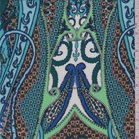 Blue Multi Paisley Challis