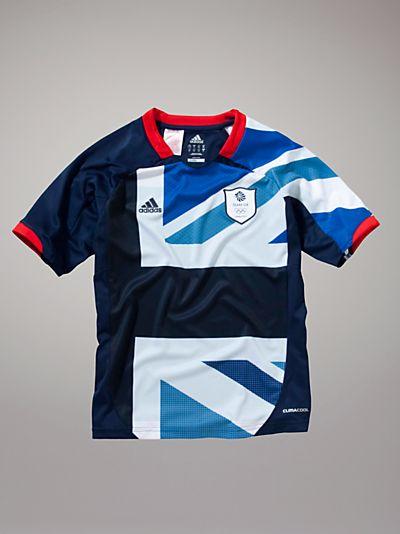 Buy Adidas Team GB Football T-shirt, Blue online at JohnLewis.com - John Lewis