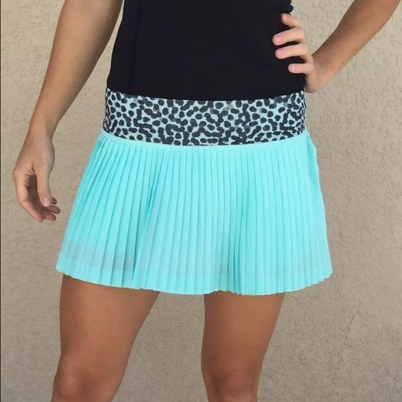 Lululemon Pleat To Street Skirt Tranquil Blue 4 EUC, worn once. Size 4. Has built in shorts. lululemon athletica Skirts Mini