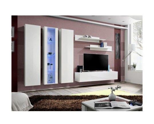 Meuble Tv Fly C4 Design Coloris Blanc Brillant Meuble Suspendu Moderne Et Tendance Pour Votre Salon 417 Floating Entertainment Center Tv Console Modern Entertainment Center