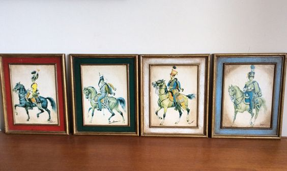 A personal favorite from my Etsy shop https://www.etsy.com/uk/listing/246457784/vintage-prints-horsemen-horses-cavalry
