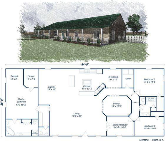 metal home floor plans with garage simple building homes steel houses house texas