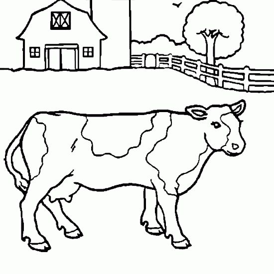 Line Drawing Pictures Animals : Free line drawings caw drawing farm coloring pages