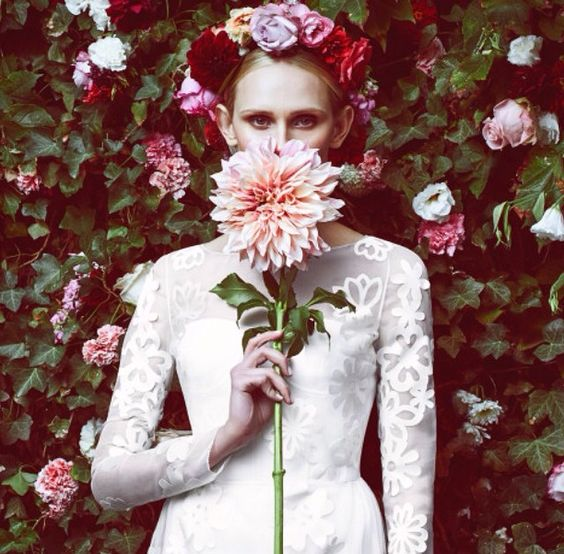 vogue. stila cosmetics. flowers.