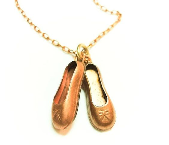 Check out the deal on Twinkle Toes Pendant-Vintage brass charm ballet slippers at Eco First Art