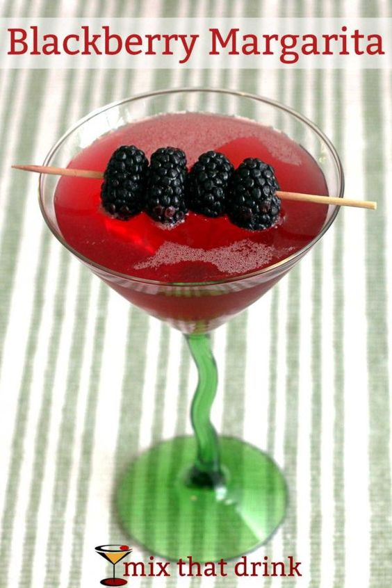 The Blackberry Margarita features blackberry liqueur along with silver ...
