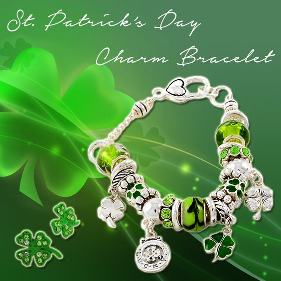 Get our St. Patrick's Day Charm Bracelet - March 17th is just around the corner!