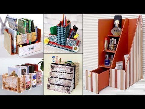 9 Best Ever Organization Ideas Handmade Craft Diy Cardboard Craft Youtube Cardboard Crafts Decoration Diy Cardboard Cardboard Box Crafts