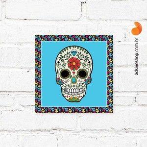 """Placa Decorativa """"Caveira Mexicana"""""""