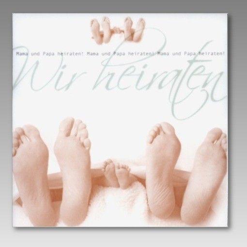 1,34 Selbst Drucken Einladung Hochzeit Für Paare Mit Kind, Einladungsentwurf