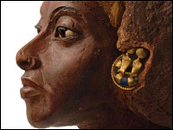 Black Egyptians | hide caption A bust of the powerful Queen Tiye, King Tut's grandmother ...: