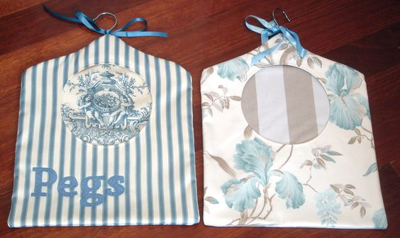 Lovely peg bag gifts - one of my first sewing projects