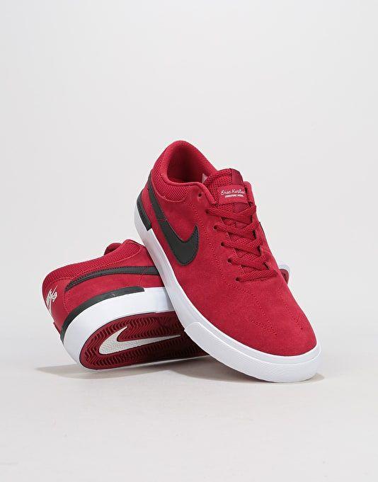 desagradable Estado Conclusión  Nike SB Hypervulc Eric Koston Skate Shoes - Red Crush/Black-White