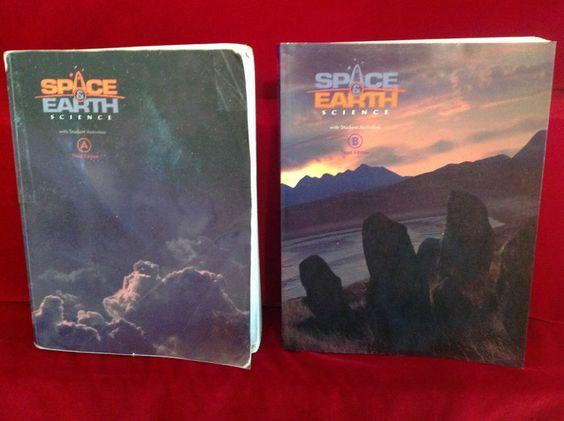 Bob Jones Space Earth A/B Student, Gr. 8 3rd Ed. BJU  Science,  Homeschool…