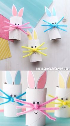 Toilet paper roll rabbit - DIY paper blog -  Toilet paper roll rabbit The Effective Pictures We Offer You About crafts for adults  A quality pic -