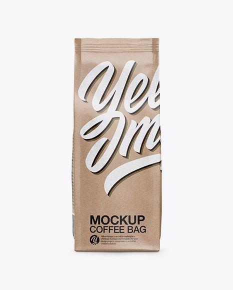 Download Free Psd Mockup Kraft Coffee Bag Mockup Object Mockups Desain