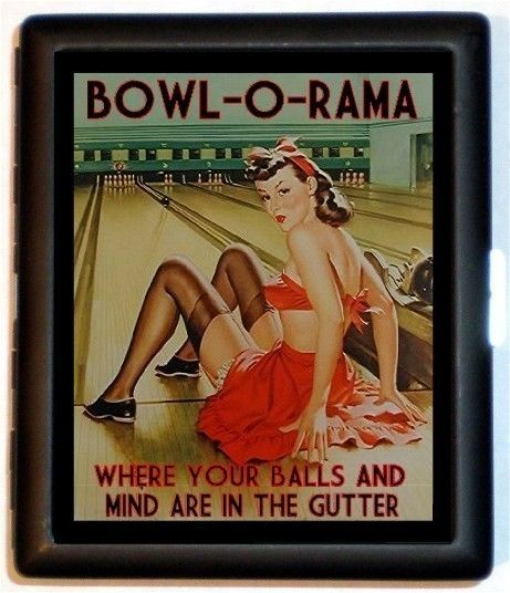 Bowling Bowler Pin Up Girl Cigarette Case or by sweetheartsinner