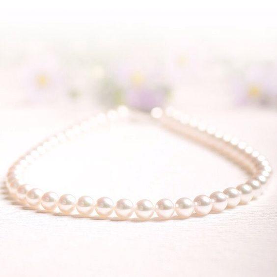 アコヤ本真珠のネックレス日本国産にこだわりバイヤーの目で厳選されたアコヤパールを取り揃えております #pearl #パール #真珠 #necklace #銀座 #ginza #銀座watatsumi #ネックレス