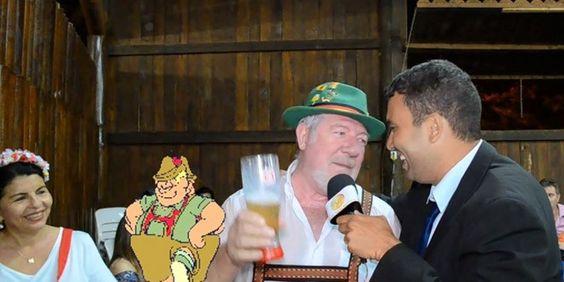 O Corneta na Festa do Chopp 2014… Cornetando o Advogado Vital, o Jovem Gustavo e o Homem Gol, Berbel… | TV PLANALTO