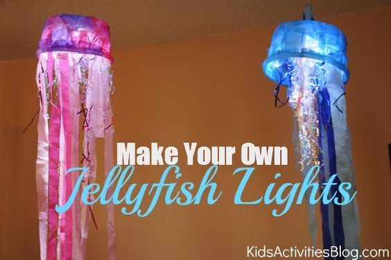 Make Your Own Jellyfish Lights - craft time fun!!