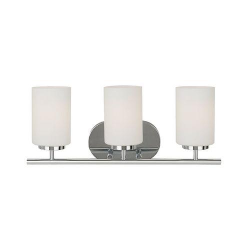 Modern Bathroom Light with White Glass in Chrome Finish | 41162BLE-05 | Destination Lighting