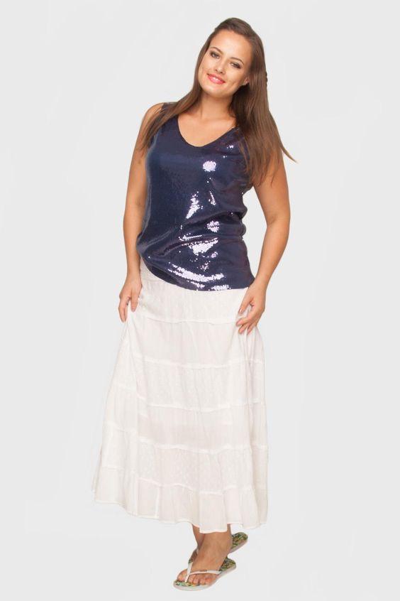 White Lace Skirt @ Flaminga