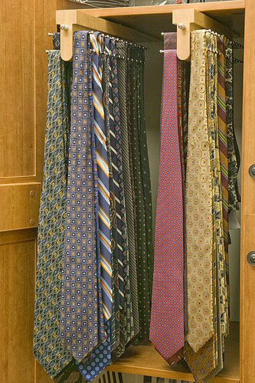 tie racks from control the clutter hangers etc organizing pinterest the o 39 jays tie. Black Bedroom Furniture Sets. Home Design Ideas