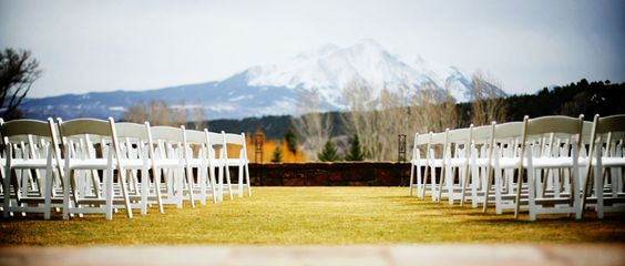 Ceremony site with Mount Sopris in Background at Aspen Glen