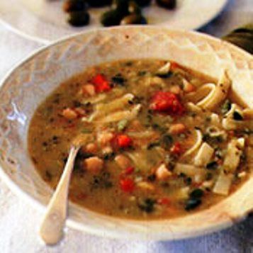 Corsican Soup - This is the kind of soup home cooks make on the Isle of Corsica.   It's one of those soups that has pretty much everything in the kitchen in it and it is delicious. This is a very hearty and healthy soup.   It's perfect for cold days.  Grab a loaf of crusty bread and dive in!!