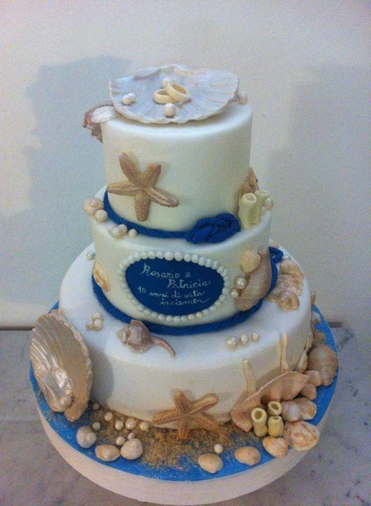 Torta tema mare le delizie di marinia pinterest for Decorazioni torte tema mare