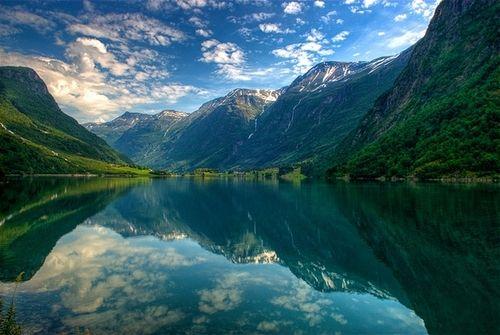 Summer Fiord, Oldedalen, Stryn, Norway  photo via colleen