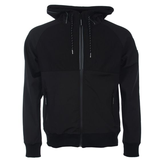 Black Hoodie With White Zipper And Strings | Fashion Ql