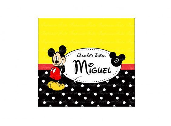 Rótulo Para Baton Mickey