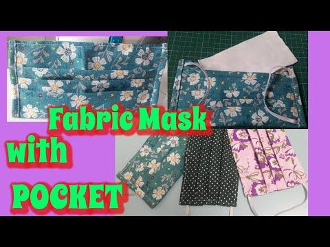 How To Sew A Face Mask With Pocket Youtube In 2020 Sewing