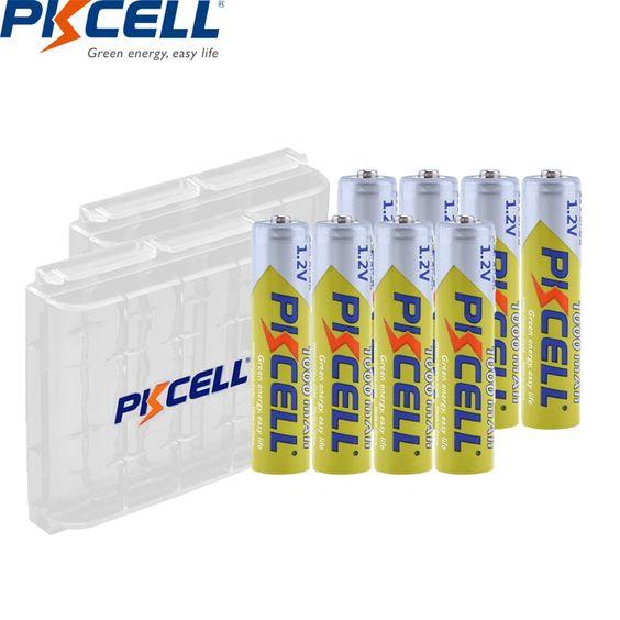 8pcs Pkcell Aaa Battery 1 2v Ni Mh Aaa Rechargeable Battery 1000mah Batteries 3a Bateria Baterias With 2pc Aaaa Battery Holder Rechargeable Batteries Life Cell