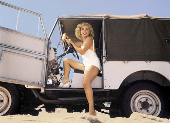 Classic Land Rover with Marilyn Monroe http://safaripacific.com/blog.php?p=32
