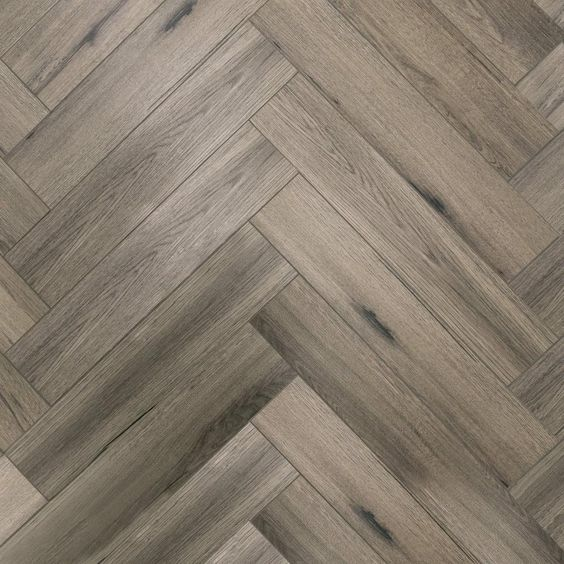 Tuscan Greige Rigid Core Vinyl Herringbone Foam Back Flooring Luxury Vinyl Flooring Luxury Vinyl Plank