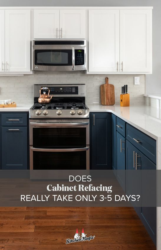 Does Cabinet Refacing Really Take Only 3 5 Days Cabinet Refacing Cabinet Remodel New Kitchen Cabinets