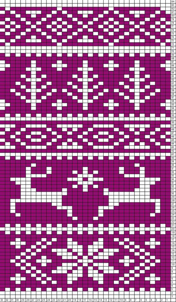 Knitting Charts Christmas : Tricksy knitter charts fair isle reindeer pattern