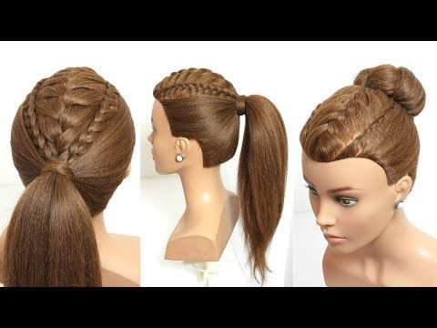 2 Easy Hairstyles For Long Hair Tutorial Ponytail And Updo With Braids Youtube Easy Hairstyles For Long Hair Long Hair Tutorial Easy Hairstyles
