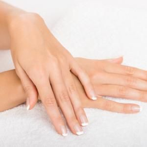 Hands on towel - Manicure