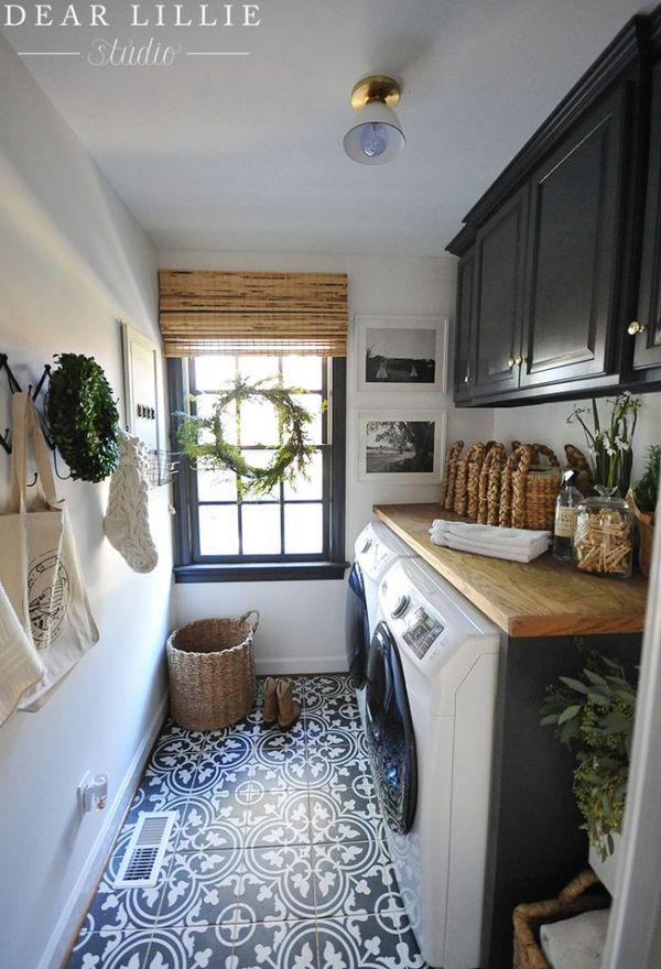 Our Christmas Laundry and Girls Bathroom - Dear Lillie Studio