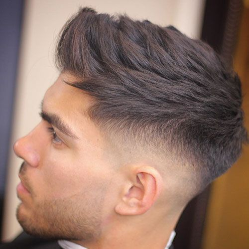 Mid Bald Fade with Textured…