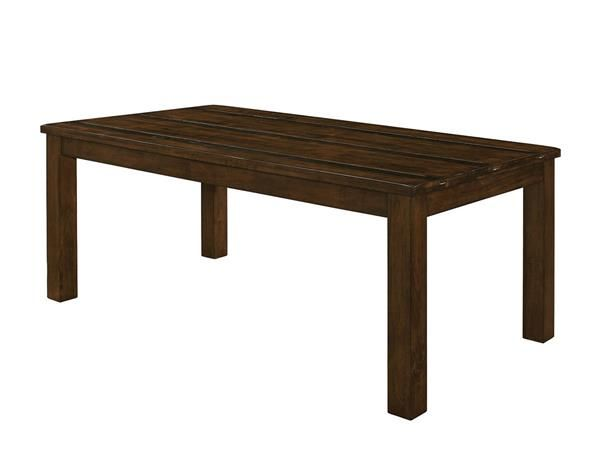 Wiltshire Rustic Pecan Wood Rough-Sawn Planks Dining Table