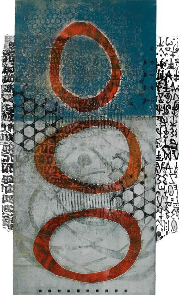 Between Three Worlds, by Anne Moore, monotype, 26